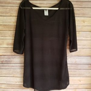 O'Neill XS Black Mesh Swimsuit Beach Cover Tunic